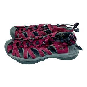 Keen 5124 Burgundy Waterproof Sport Sandals 6.5
